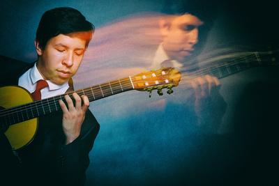 Sesion fotografica guitarrista